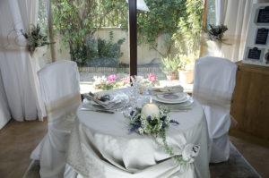 design tavolo sposi allestimento